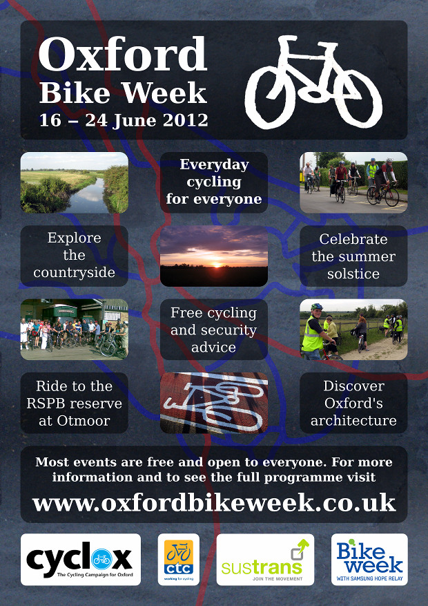 Oxford Bike Week 2012 poster