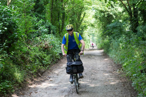 Riding up the lane to the Roman Ruins, June 2014