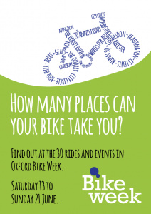 Oxford Bike Week 2015 poster, designed by Richard Fairhurst