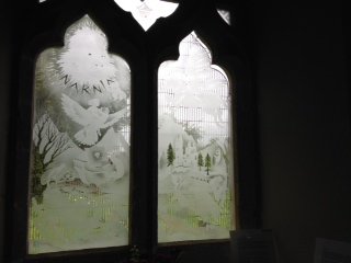 Narnia window in Holy Trinity Church, CS Lewis Ride, 13 June 2015